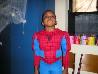 Riangelo als spiderman