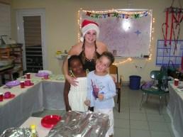 Kerstdiner, Anneloes met Thais Ann en Steven