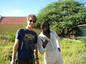 Robert en Niles op de filmlocatie