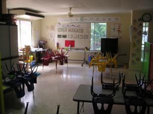Klein college, klaslokaal van groep 1
