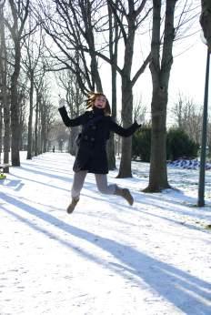 Sneeuw in parkje