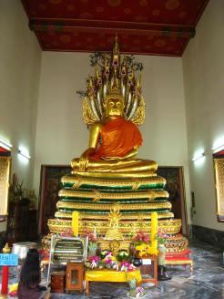 In een tempel
