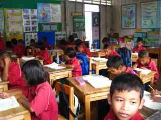 Hogere klas van de islamitische school