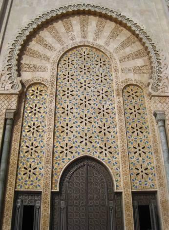 Deur van de Hassan ll moskee