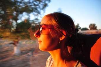 Genieten van de zonsondergang