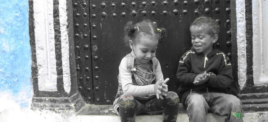 Kinderen voor hun huis