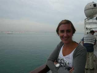 Chantal op de ferry