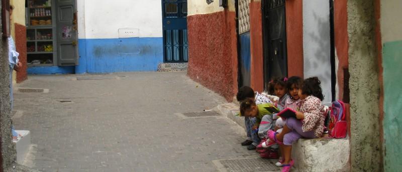 Schoolkinderen in Tanger