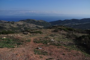 Uitzicht op straat van Gibraltar
