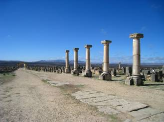 Volubilis, de hoofdweg
