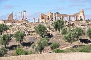 Volubilis, de tempel en de basilica