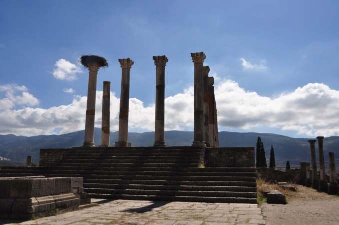 Volubilis, de tempel van Jupiter