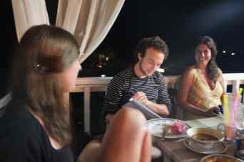 Eten met Friedjof en Susana