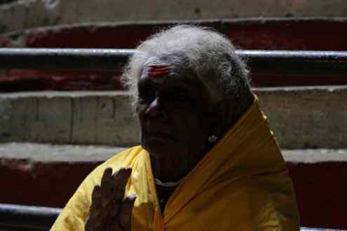 Indiase vrouw in de Batu Caves
