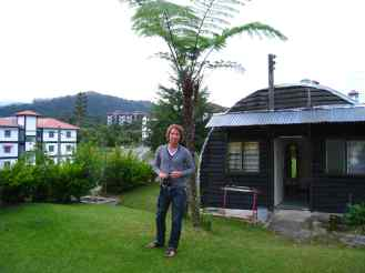 Onze bunker in Fathers guesthouse in Cameron Highlands