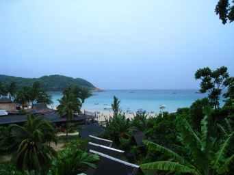 Uitzicht op Long beach
