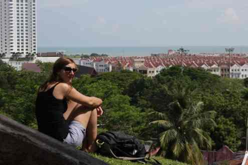 Uitzicht over Melaka