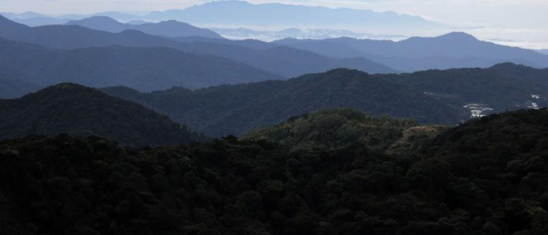 Uitzicht vanaf de hoogste berg