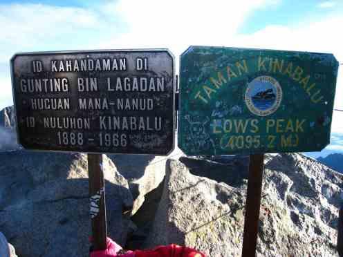 De top, Low's Peak