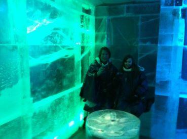 In de icebar
