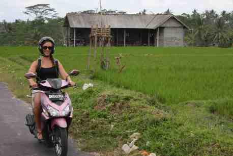 Scooteren in Ubud