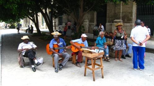 Cubaans bandje in Havana vieja