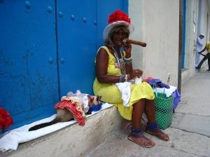 Vrouw in Havana vieja