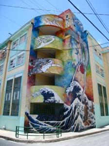 Kleurrijk gebouw