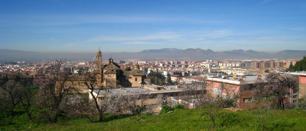 Uitzicht vanaf de campus