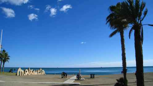 Strand in Málaga