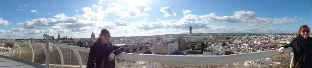 Sevilla, panorama vanaf de Metropol Parasol
