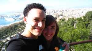 Málaga, uitzicht vanaf het Gibralfaro