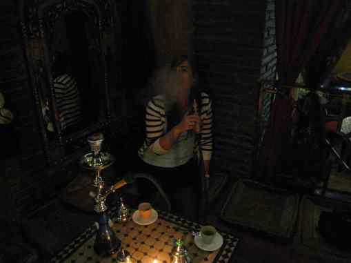 Shisha roken in een teteria