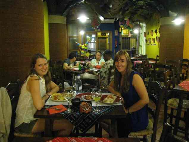 Verjaardag, uit eten bij de Mexicaan