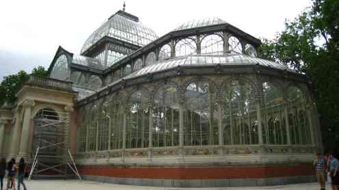 Madrid, park Retiro, palacio de cristal