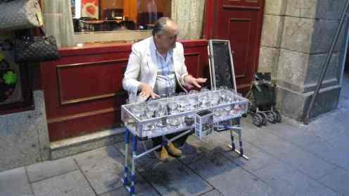 Madrid, straatmuzikant