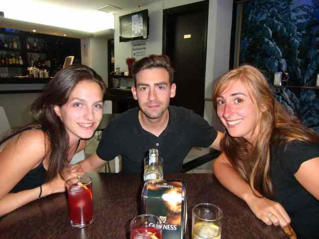 Afscheid Nora, Réka, Miguel en ik