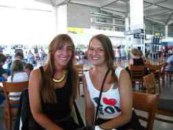 Afscheid op het vliegveld