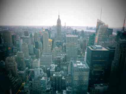 Top of the Rock, uitzicht op Empire State Building