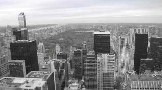 Top of the Rock, uitzicht op Central Park