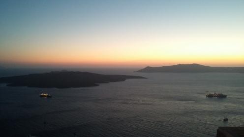Uitzicht op de caldera