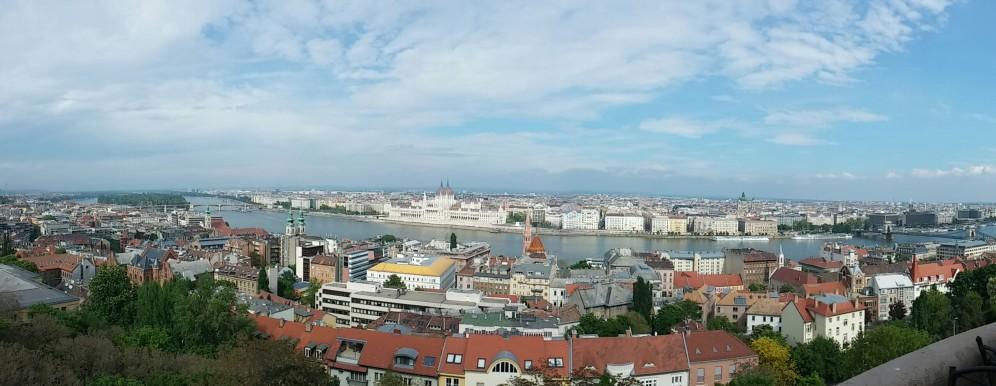 Uitzicht op Boeda en Pest