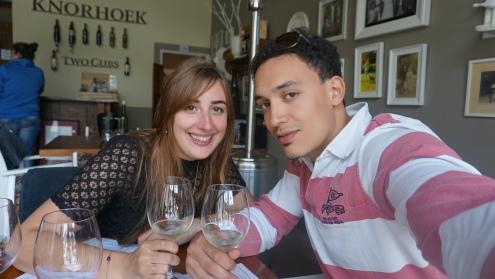 Stellenbosch, wijnproeverij bij Knorhoek