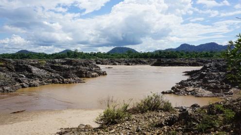 Don Khon, plaats waar de overleden Franse jongen het water in ging