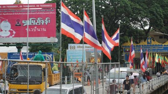Grensstadje Mae Sai bij grens naar Myanmar