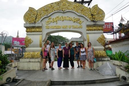 Noordelijkste puntje Thailand en de gezellige groep