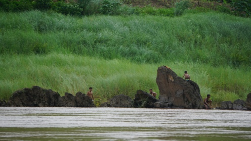 Oevers Mekong