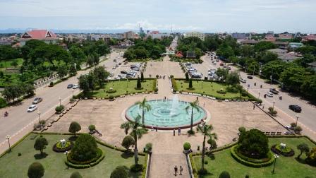 Uitzicht vanaf Patuxay