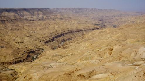 King's highway, uitzicht op de Wadi Mujib