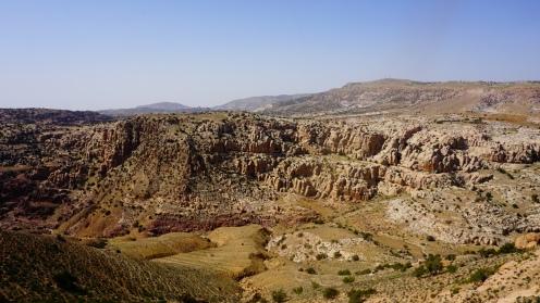 Uitzicht vanaf de tent op de vallei
